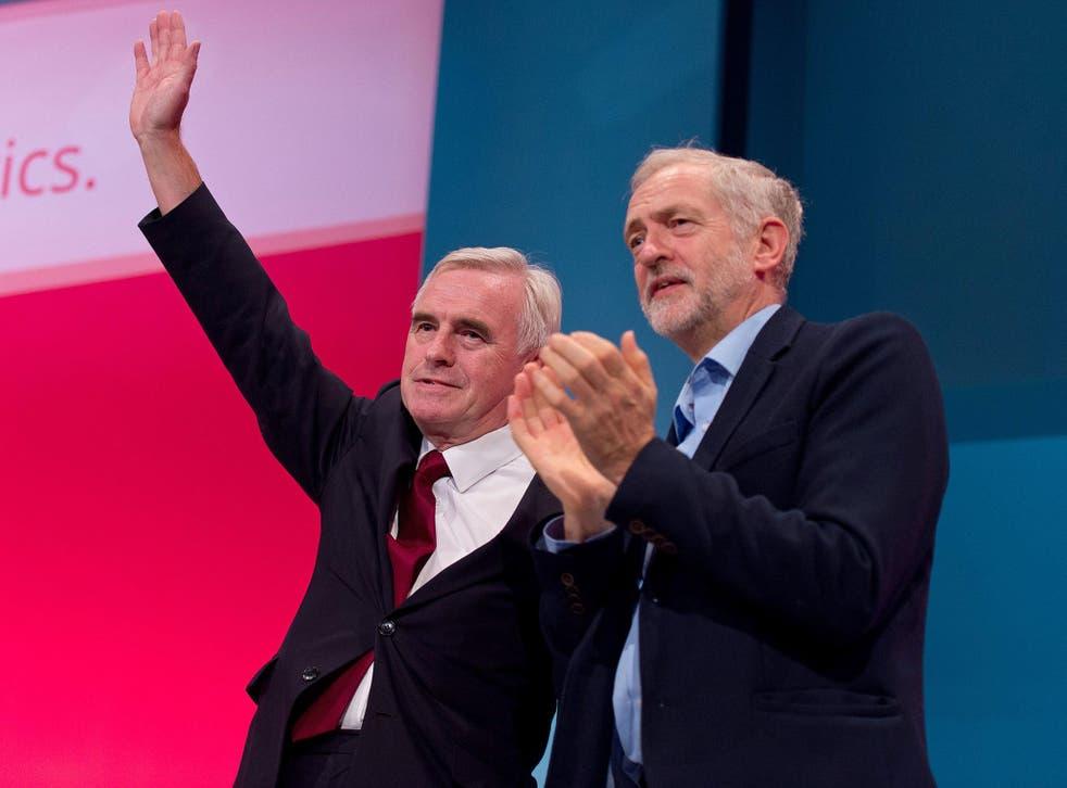 John McDonnell with Jeremy Corbyn