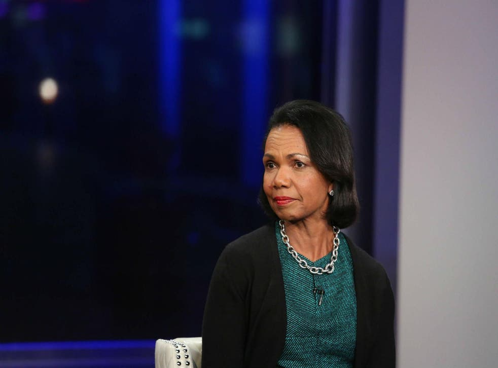 Dr Rice, who left office in 2009, is currently a professor of political science at Stanford University in California