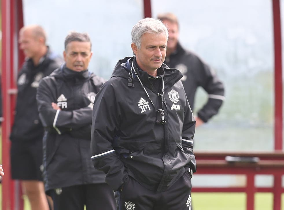 Mourinho began work as United's manager last week