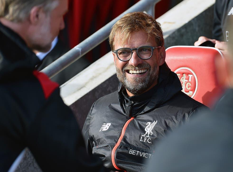 Jurgen Klopp was in good spirits after Liverpool's comfortable 5-0 win over Fleetwood Town