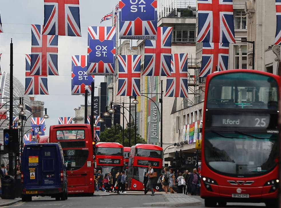 Oxford Street is believed to be the busiest and most polluted shopping street in Europe