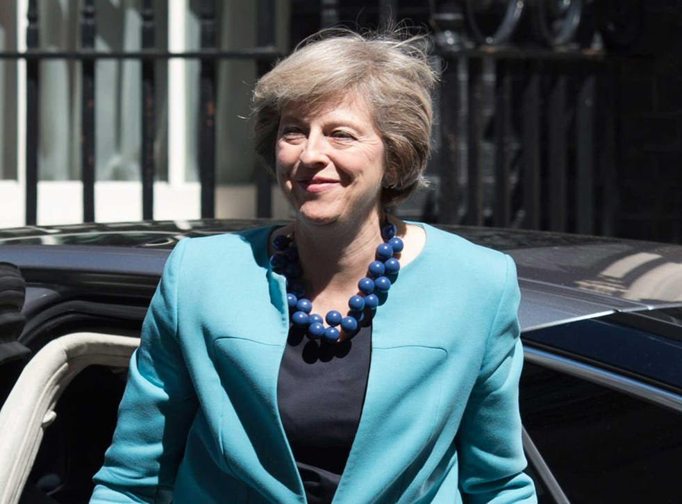 British Prime Minister Theresa May arrives in Downing Street