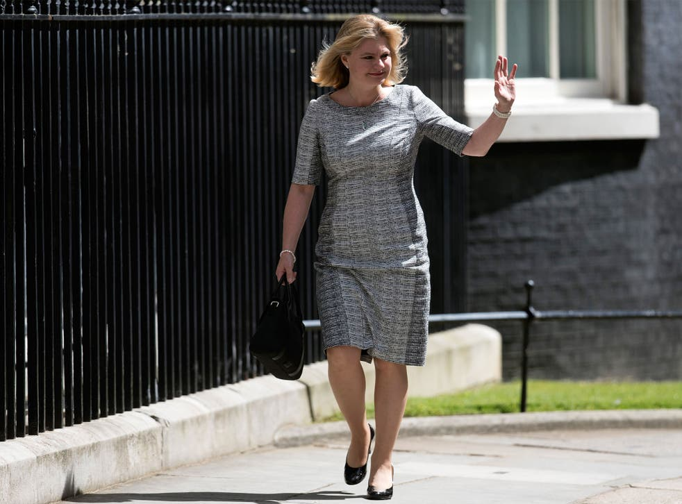 Justine Greening arrives to meet Prime Minister Theresa May to be appointed Secretary of State for Education at Downing Street