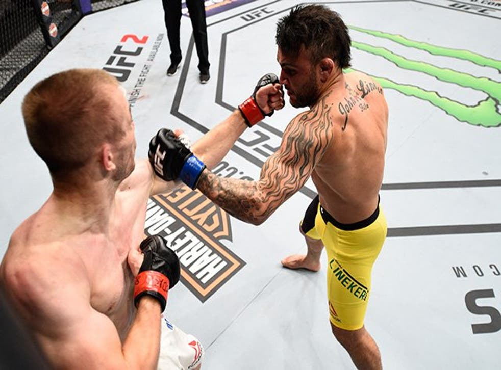 John Lineker knocked out Michael McDonald with a flurry of big punches