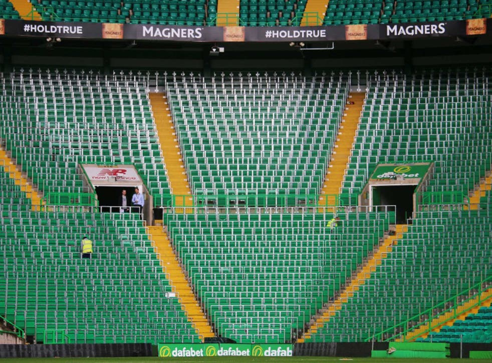 Celtic's new 2,600 capacity safe-standing area