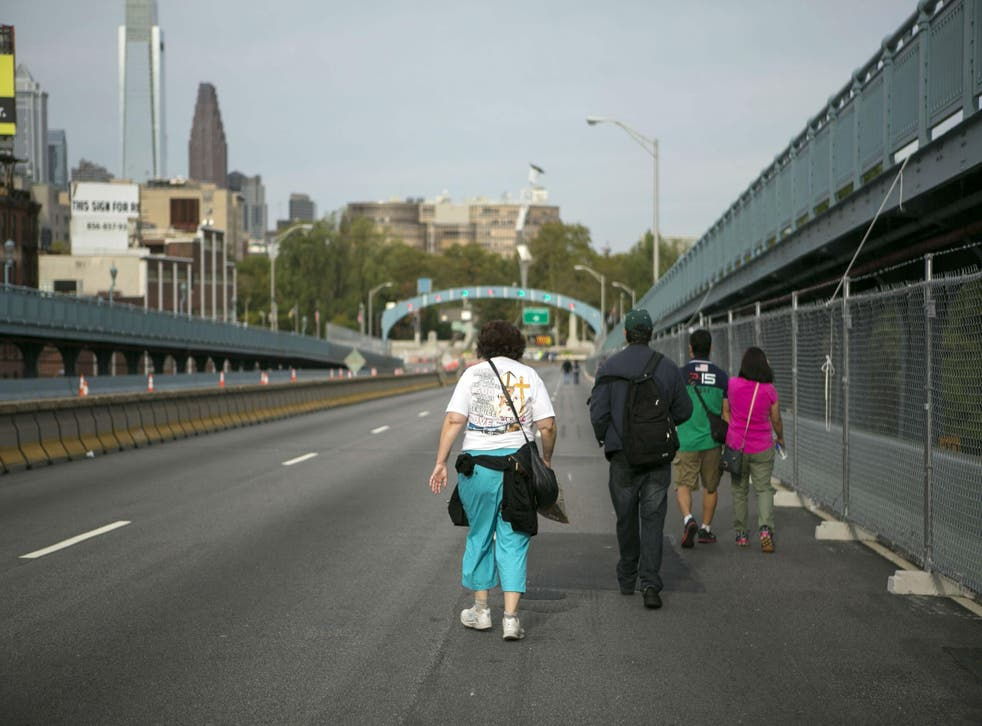 Philly's streets were car free during Pope Francis' visit last year