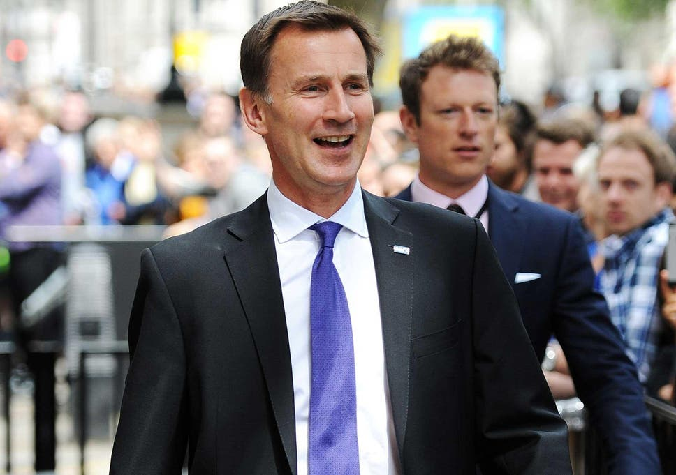 Health Secretary Jeremy Hunt leaves Downing Street