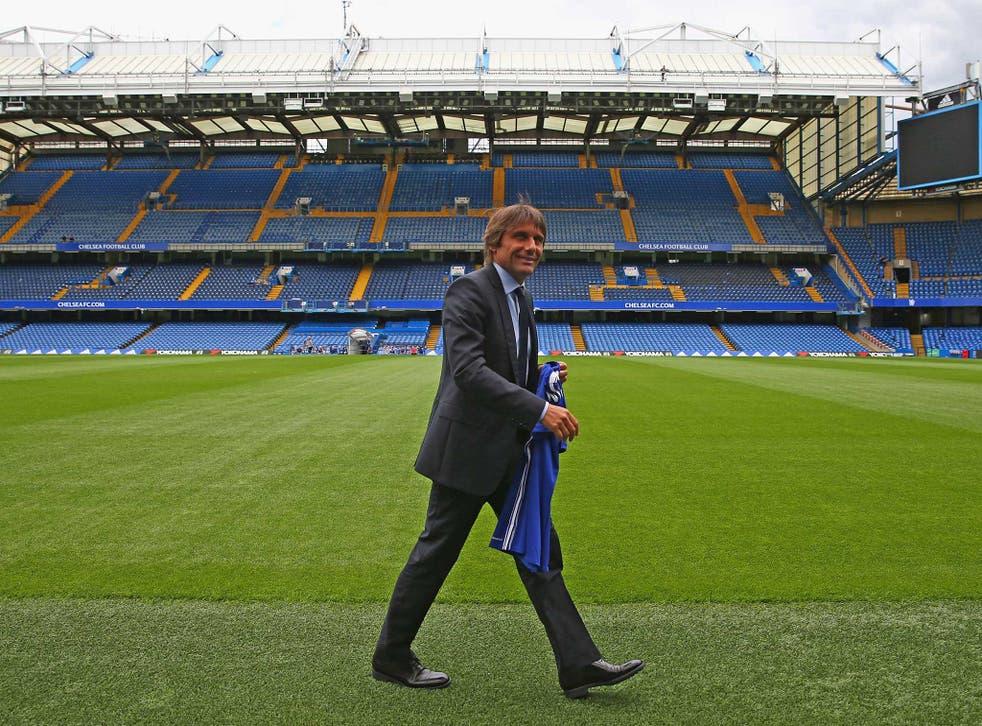 Antonio Conte gets used to his new surroundings at Stamford Bridge