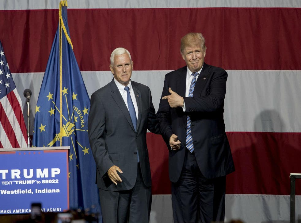 Mr Trump has reportedly tapped Indiana Governor Mike Pence, left, as his vice-presidential pick, after considering former House Speaker Newt Gingrich and New Jersey Governor Chris Christie