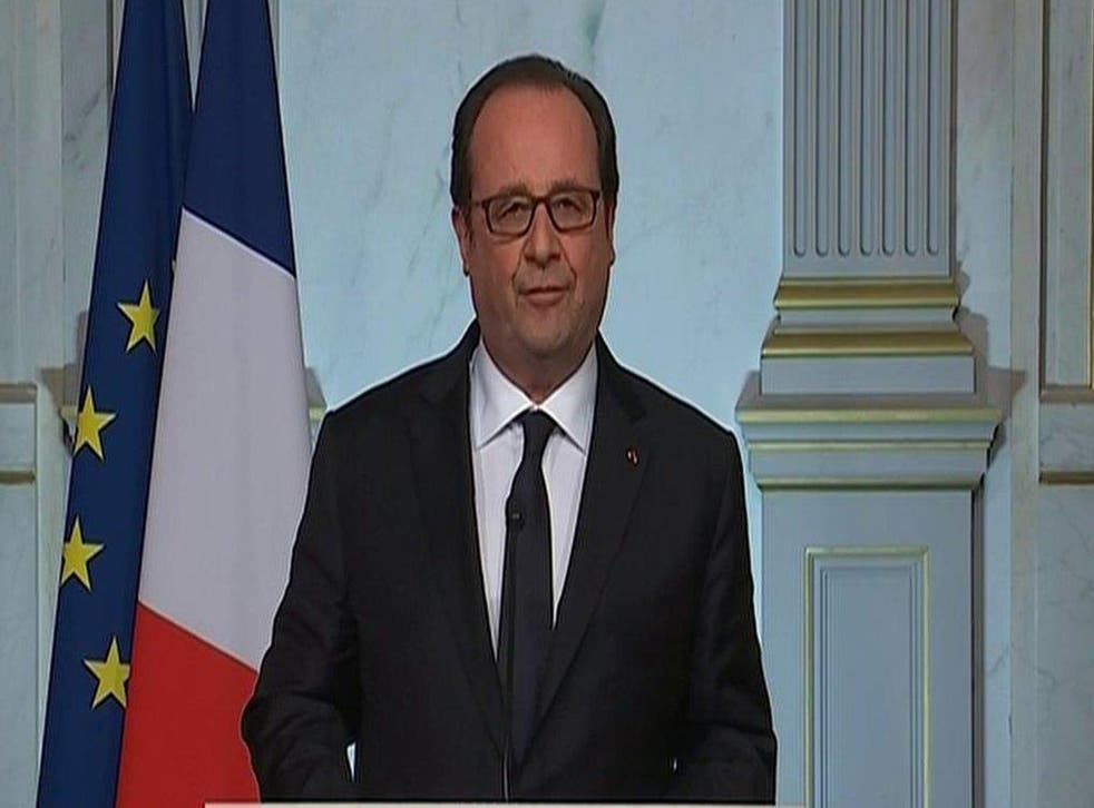 Francois Hollande addresses the nation after the Nice attack