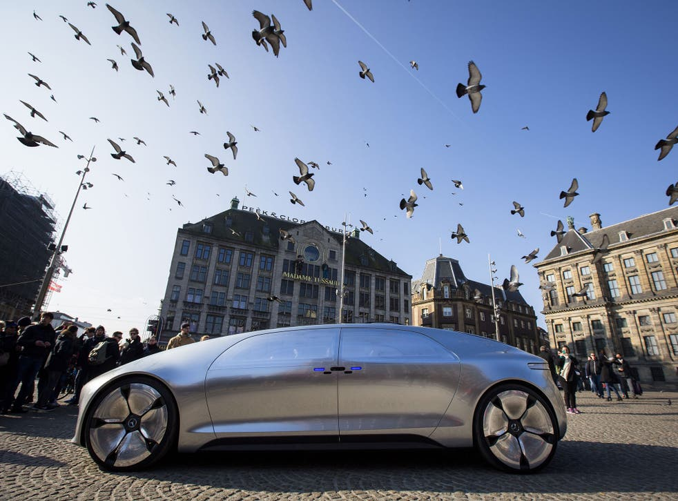 The self-driving Mercedes Benz F 015 in Amsterdam this March