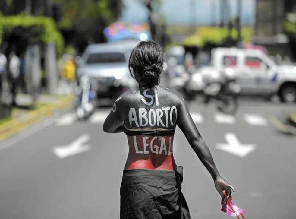 Campaigners in El Salvador are fighting for the decriminalisation of abortion
