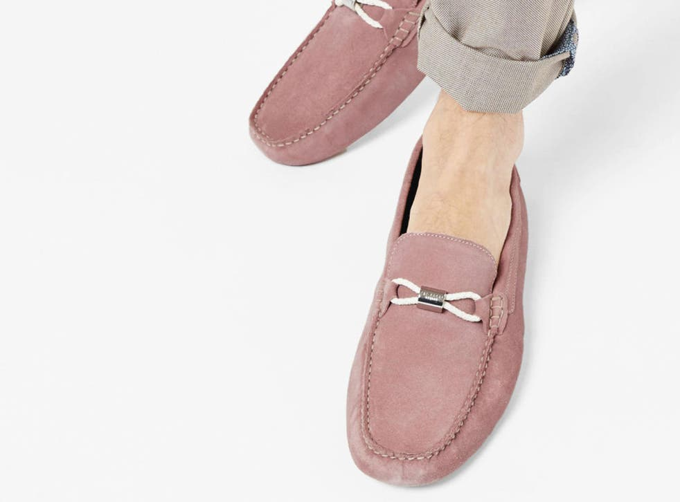 Ted Baker suede loafers go perfectly with some smart shorts and a well-tailored shirt