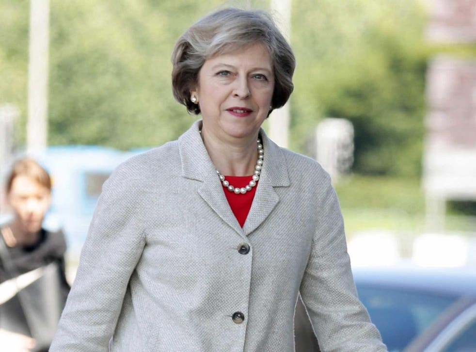 Prime Minister Theresa May arrives at the Senedd, the National Assembly for Wales building in Cardiff