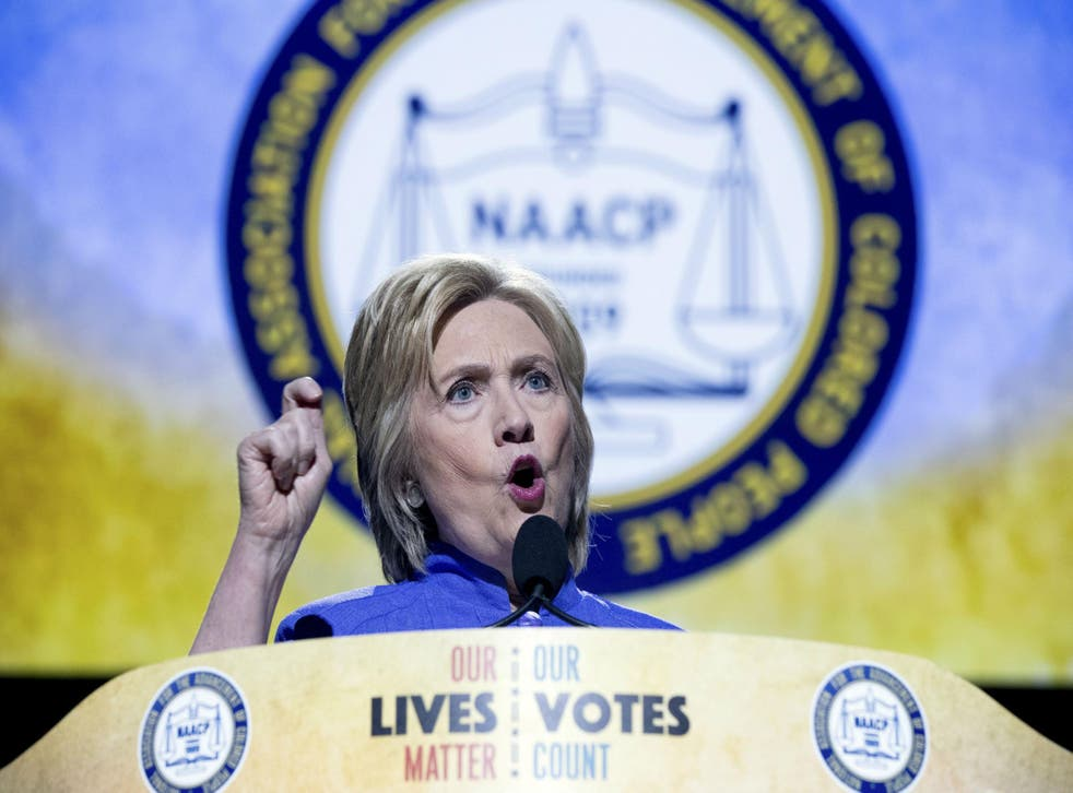 Ms Clinton said stopping the recent violence would be her 'number one priority'