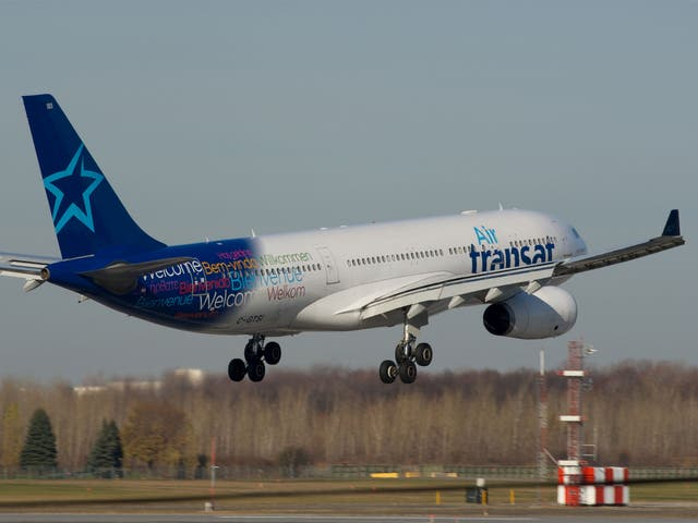 File image of an Air Transat A330-200 C-GTSI