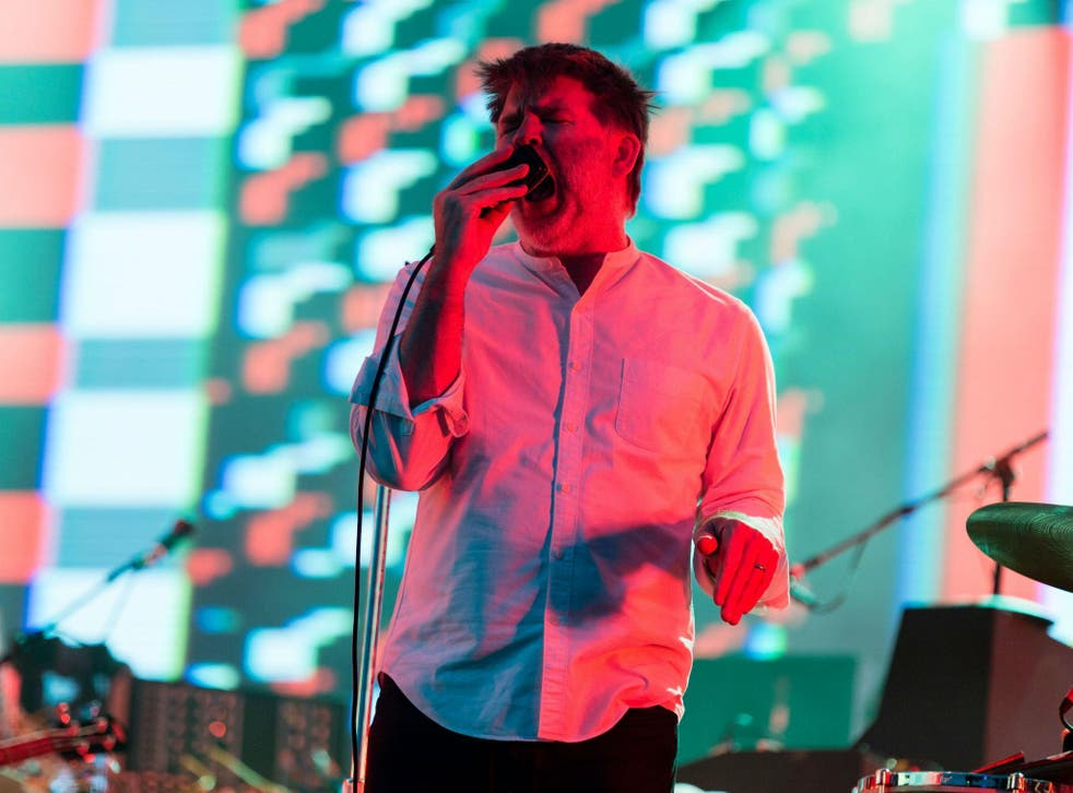 LCD Soundsystem's James Murphy performs at Lovebox Festival, Victoria Park