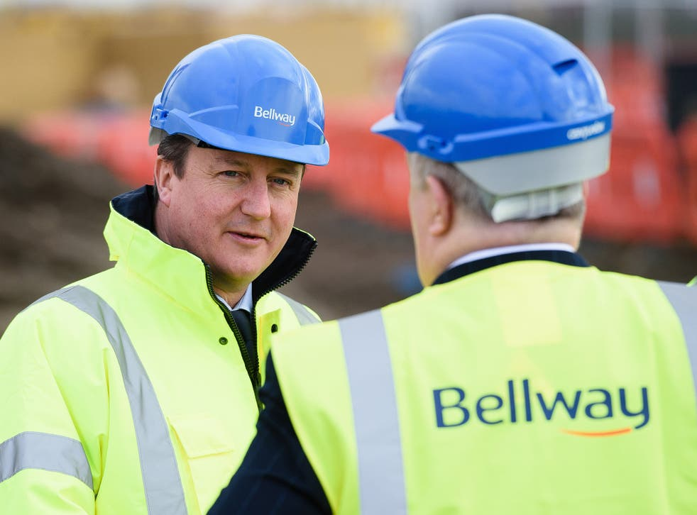 An average of 123,560 houses were built in England and Wales under Mr Cameron