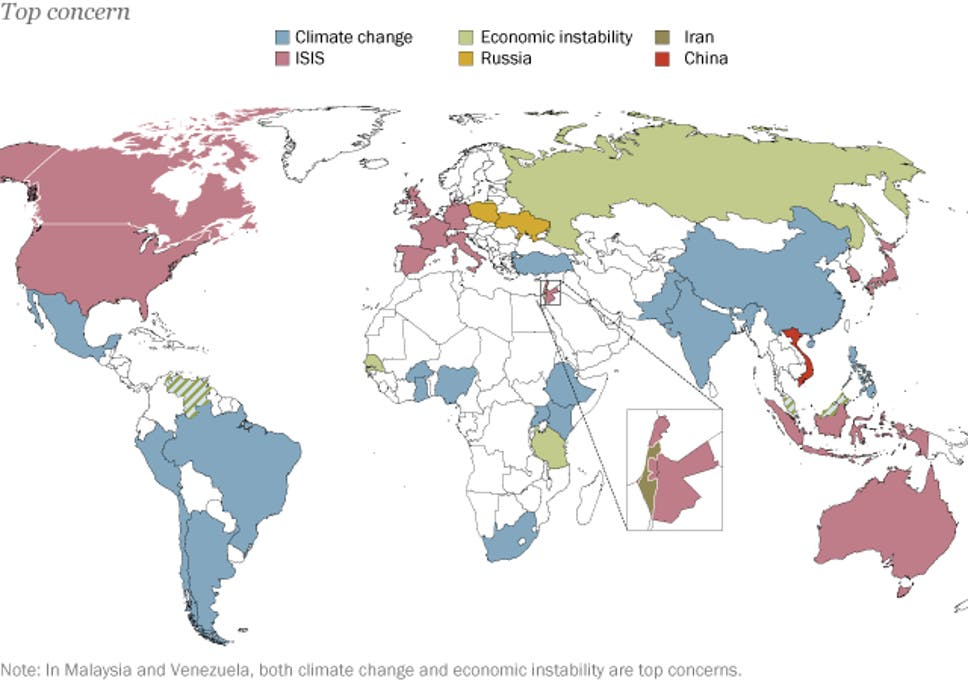 This Map Shows What Different Countries View As The Greatest Threat