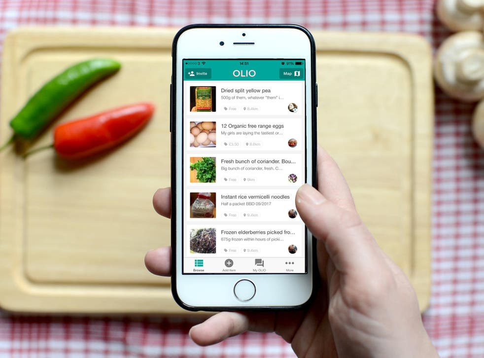 Olio was set up by two graduates from Stanford University in California