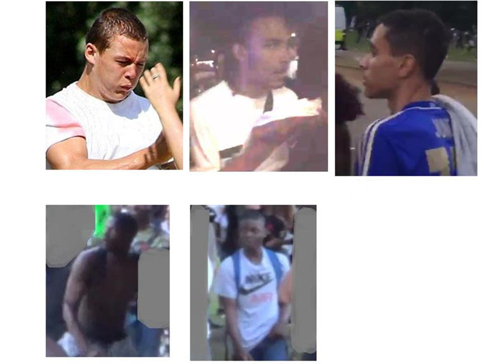 Hyde Park Violence Police Release Images Of Five Suspects Wanted In Connection With Disorder The Independent The Independent