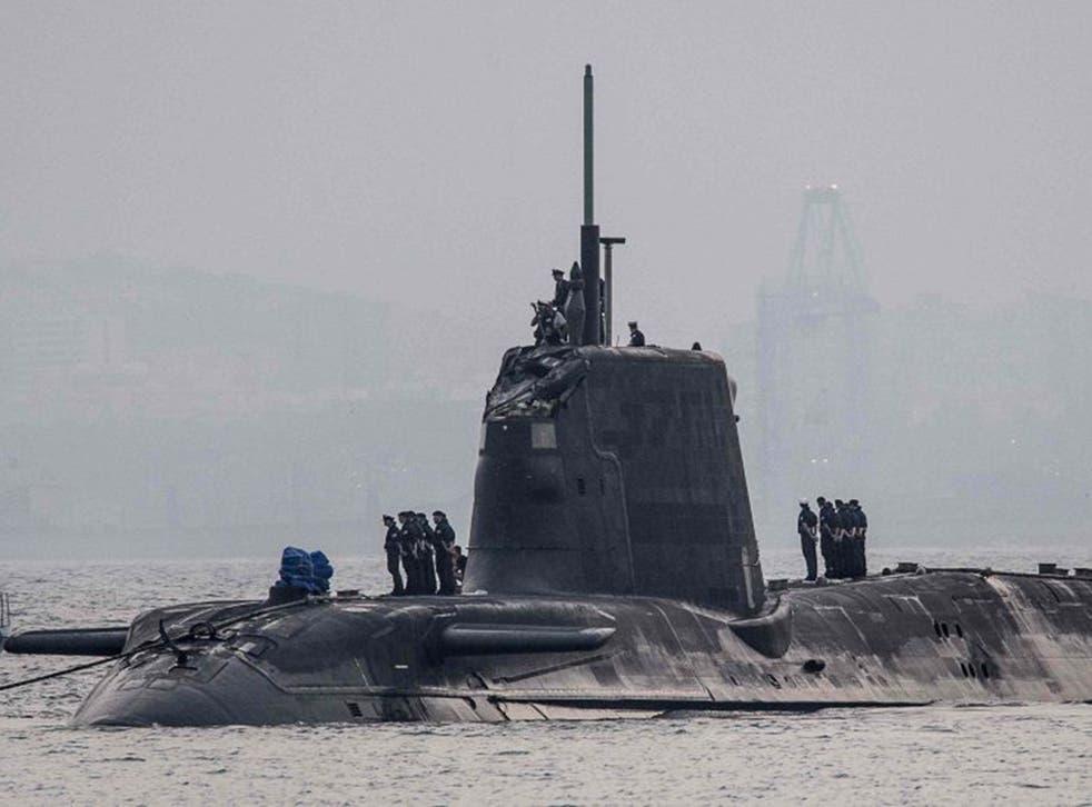 HMS Ambush in Gibraltar