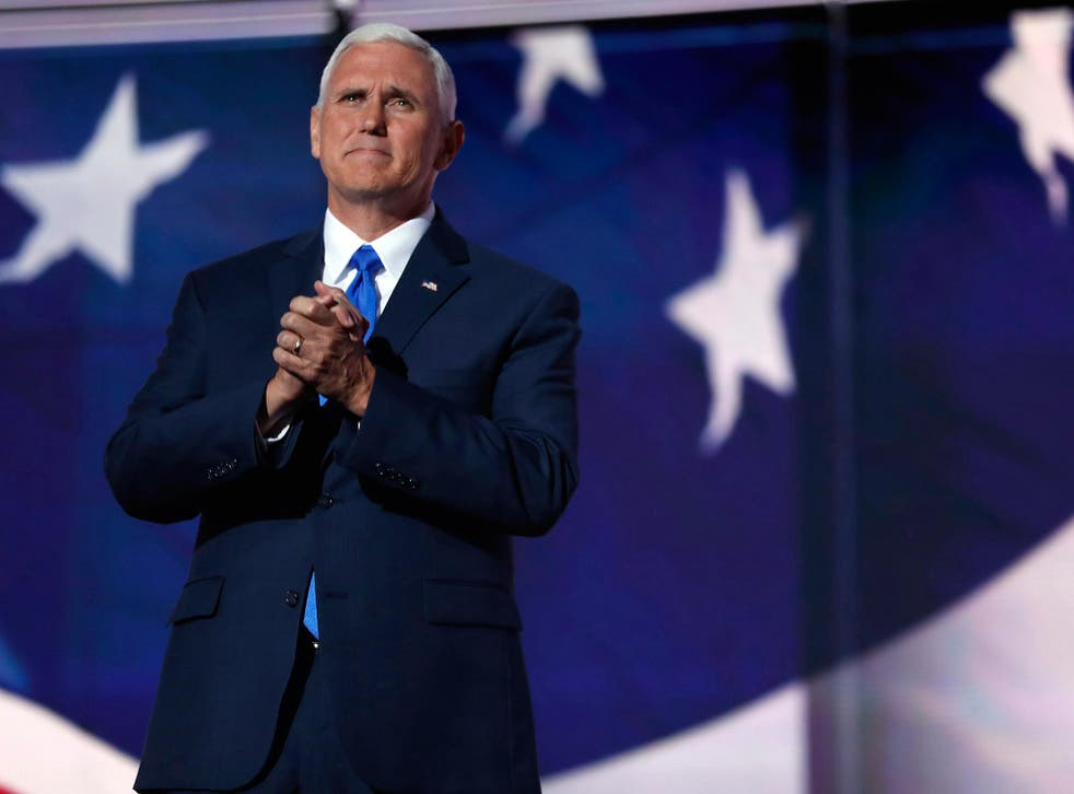 Vice Presidential candidate Pence addresses audience at GOP convention <em>AP</em>