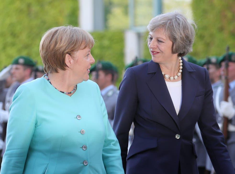 Angela Merkel and Theresa May meet in Berlin
