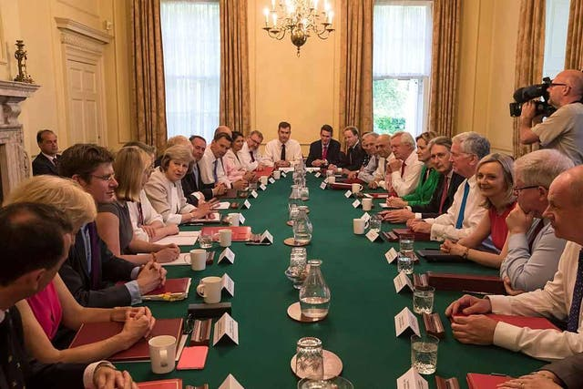 May's Cabinet will carry out government policy, but her backroom advisers will be critical in shaping it. Photo: Getty.