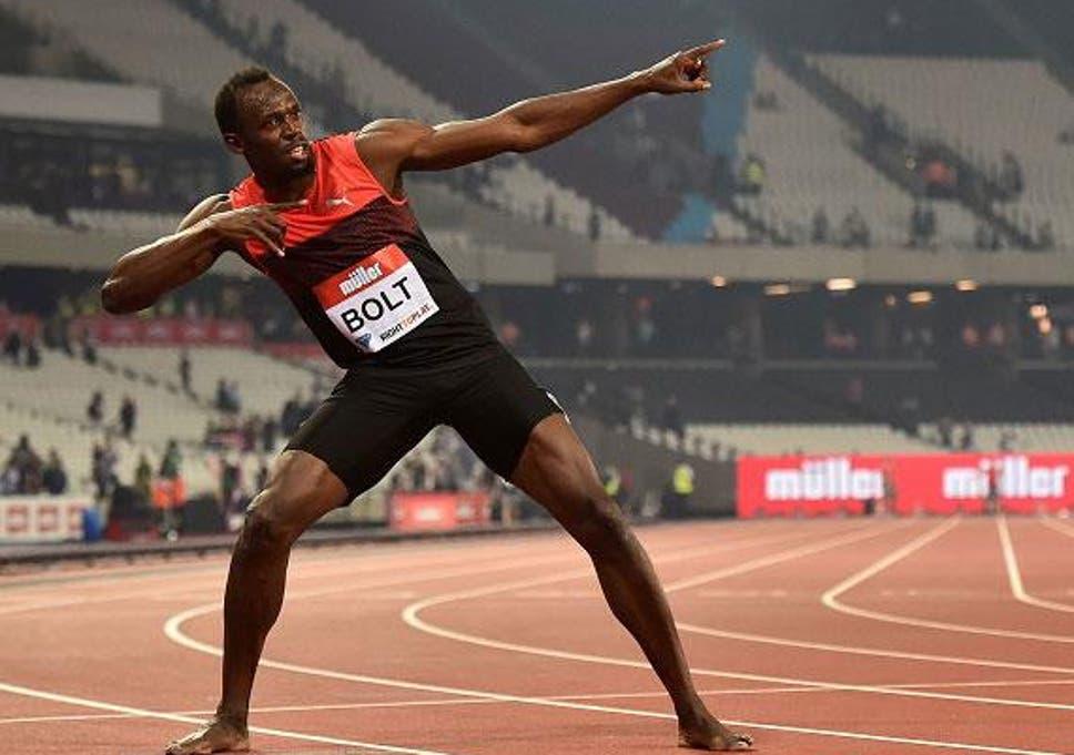 Usain Bolt celebration