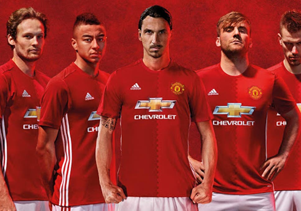 buy popular be4ff b09ea Manchester United new kit: 2016/17 Adidas home strip ...