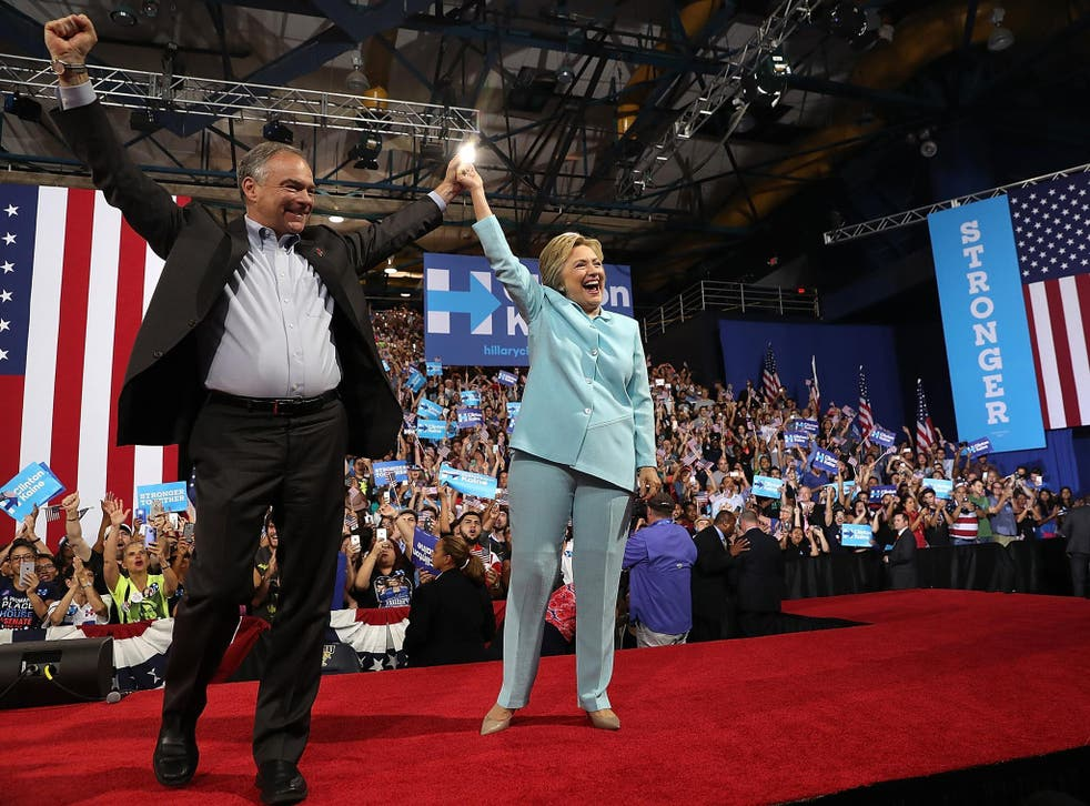 Senator Tim Kaine and Hillary Clinton were running mates in the 2016 presidential election
