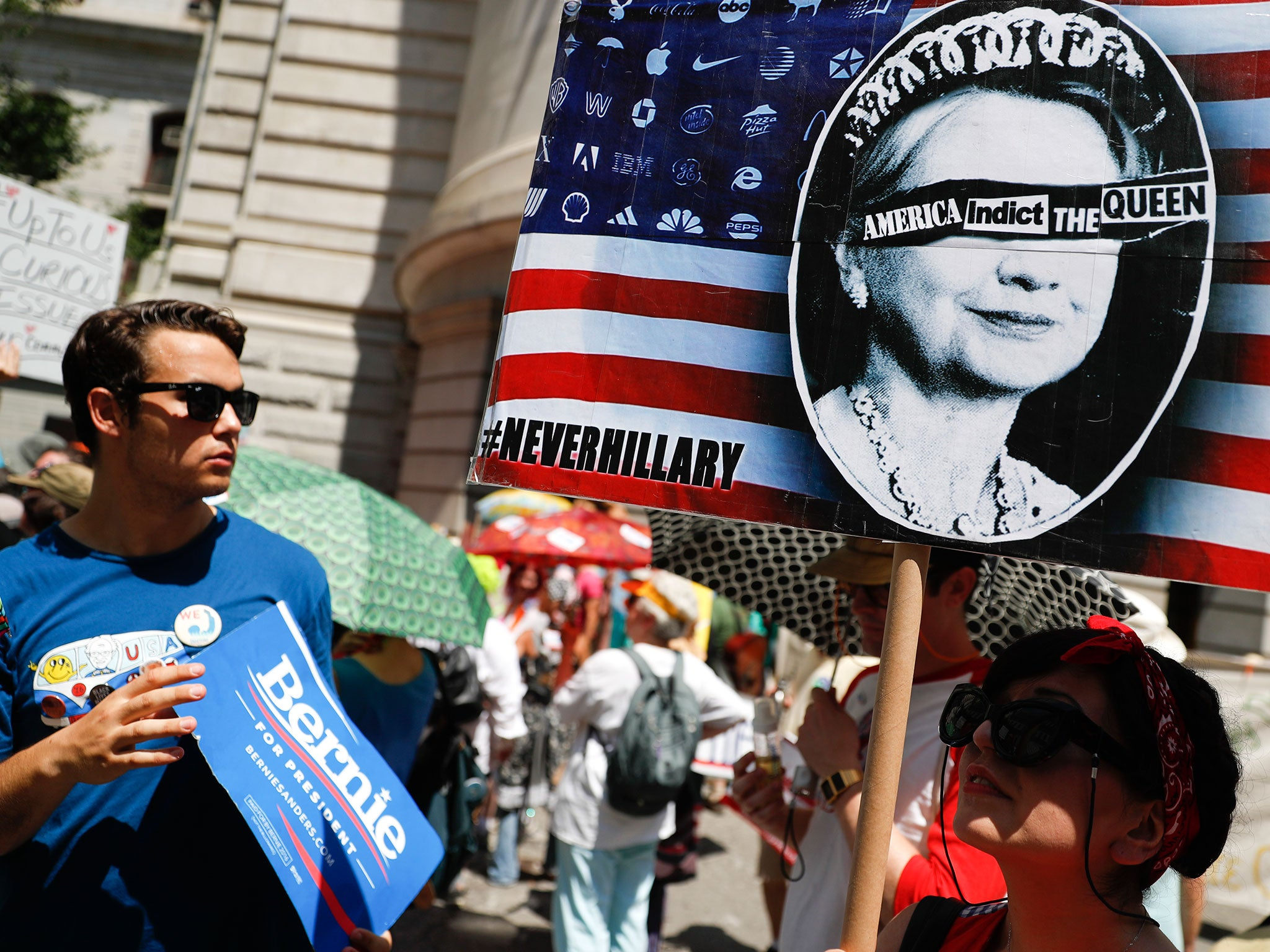 Clinton defused party disunity having her opponents speak first ...
