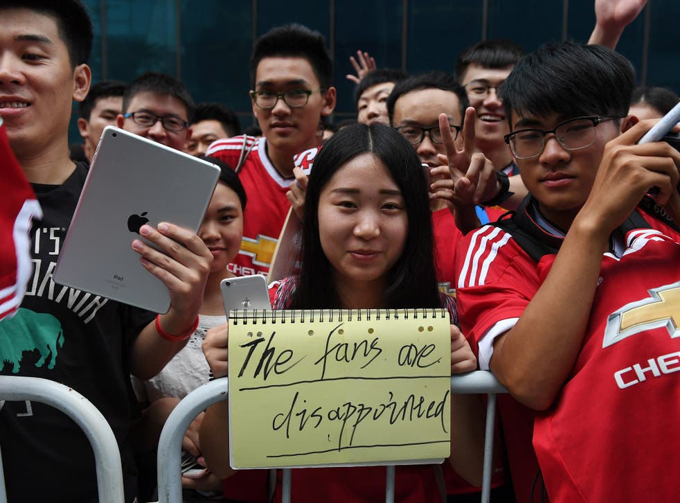 Premier League football is popular in China