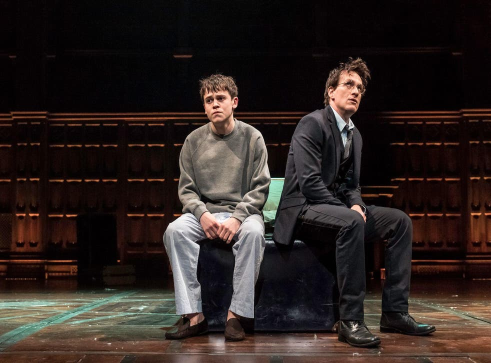 Sam Clemmett and Jamie Parker as Albus Severus and his father Harry Potter in Harry Potter and the Cursed Child