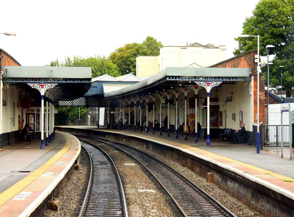 Trains were delayed outside of Cheltenham Spa station as armed police investigated