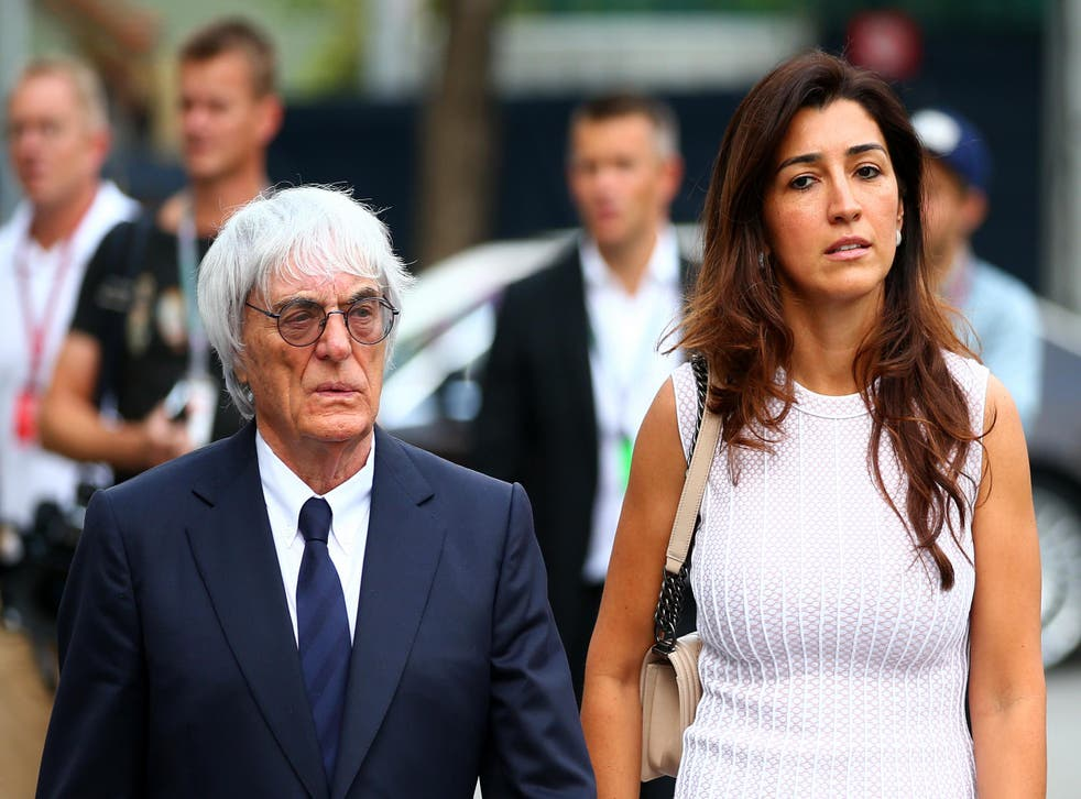 Bernie Ecclestone and his wife Fabiana Flosi, whose mother was kidnapped from her home in Brazil