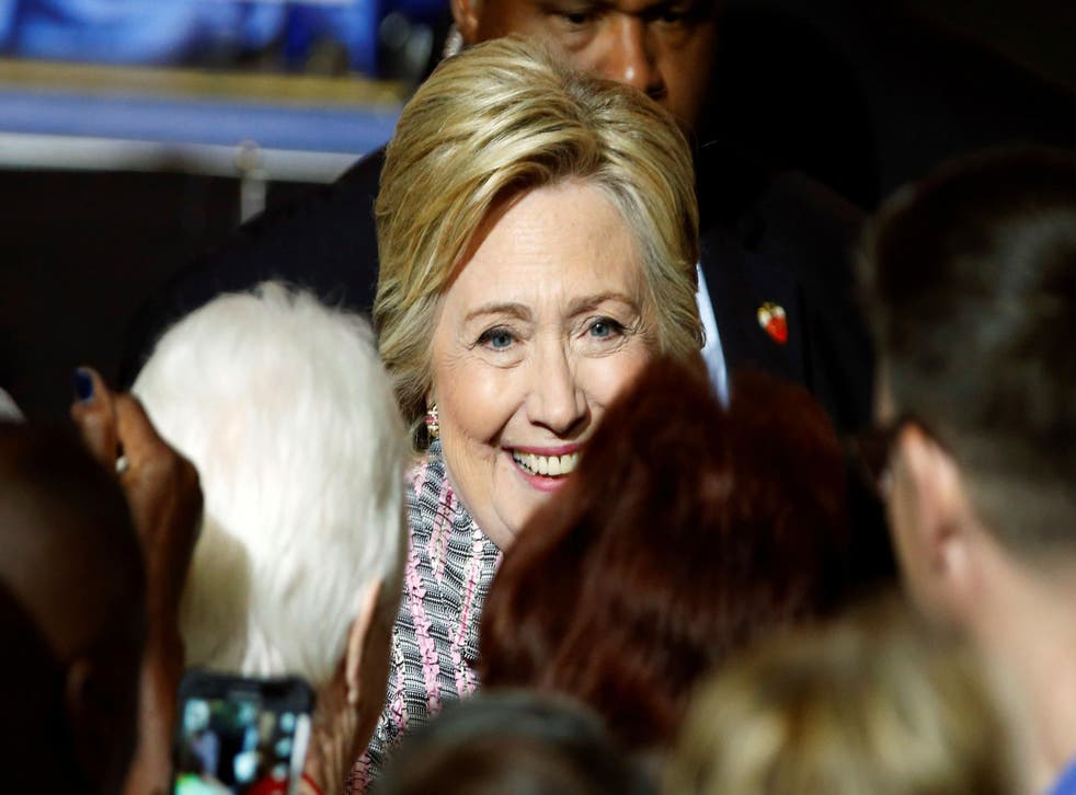 Ms Clinton is the fist woman to be nominated for president by a mainstream party