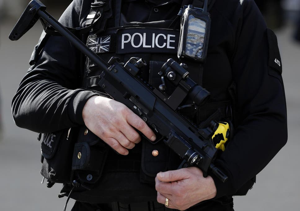 Police in Britain fired their guns just seven times in the