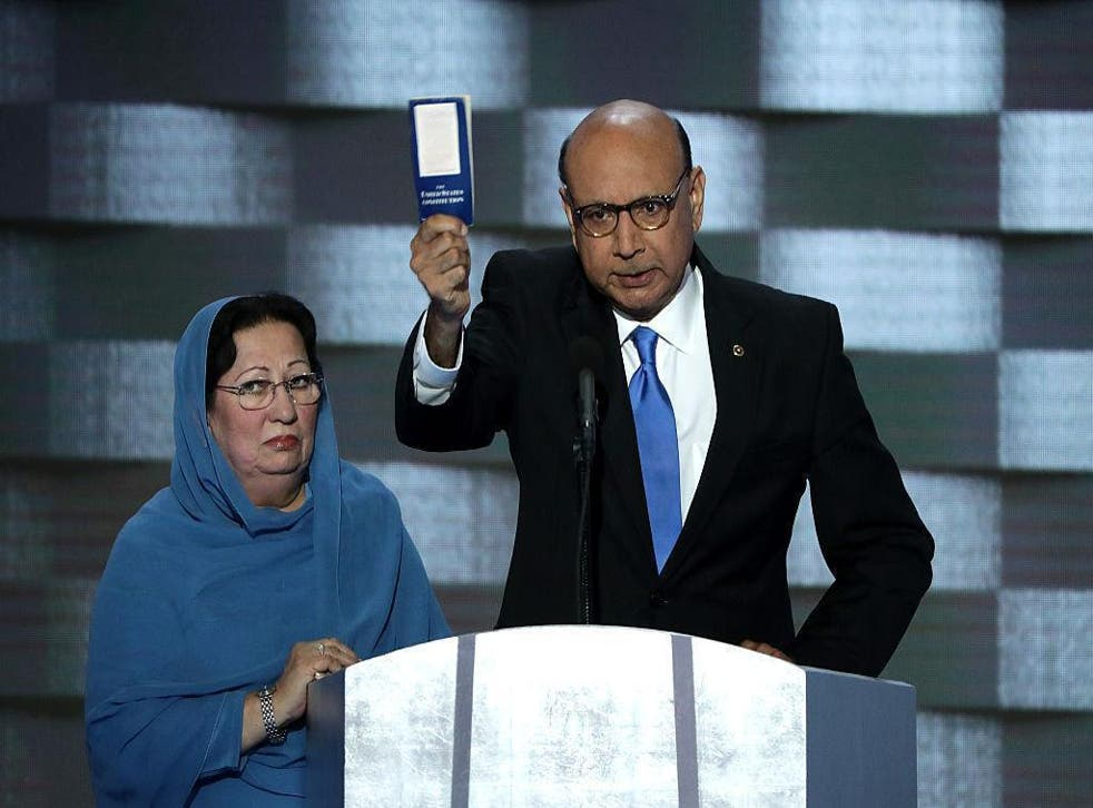Khizr Khan encouraged the Republican to learn about the founding American values