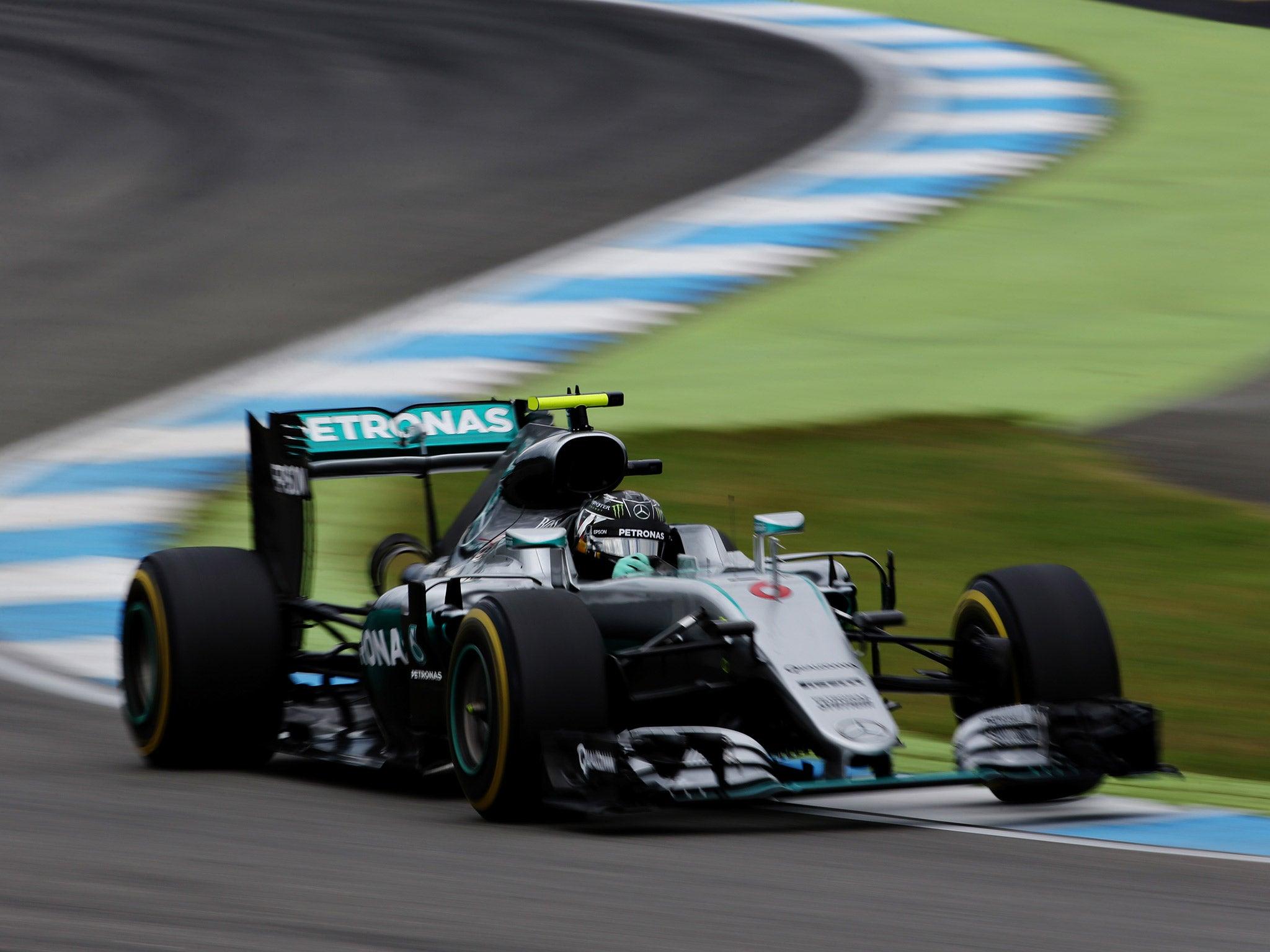 German Grand Prix: Nico Rosberg holds advantage over Lewis Hamilton
