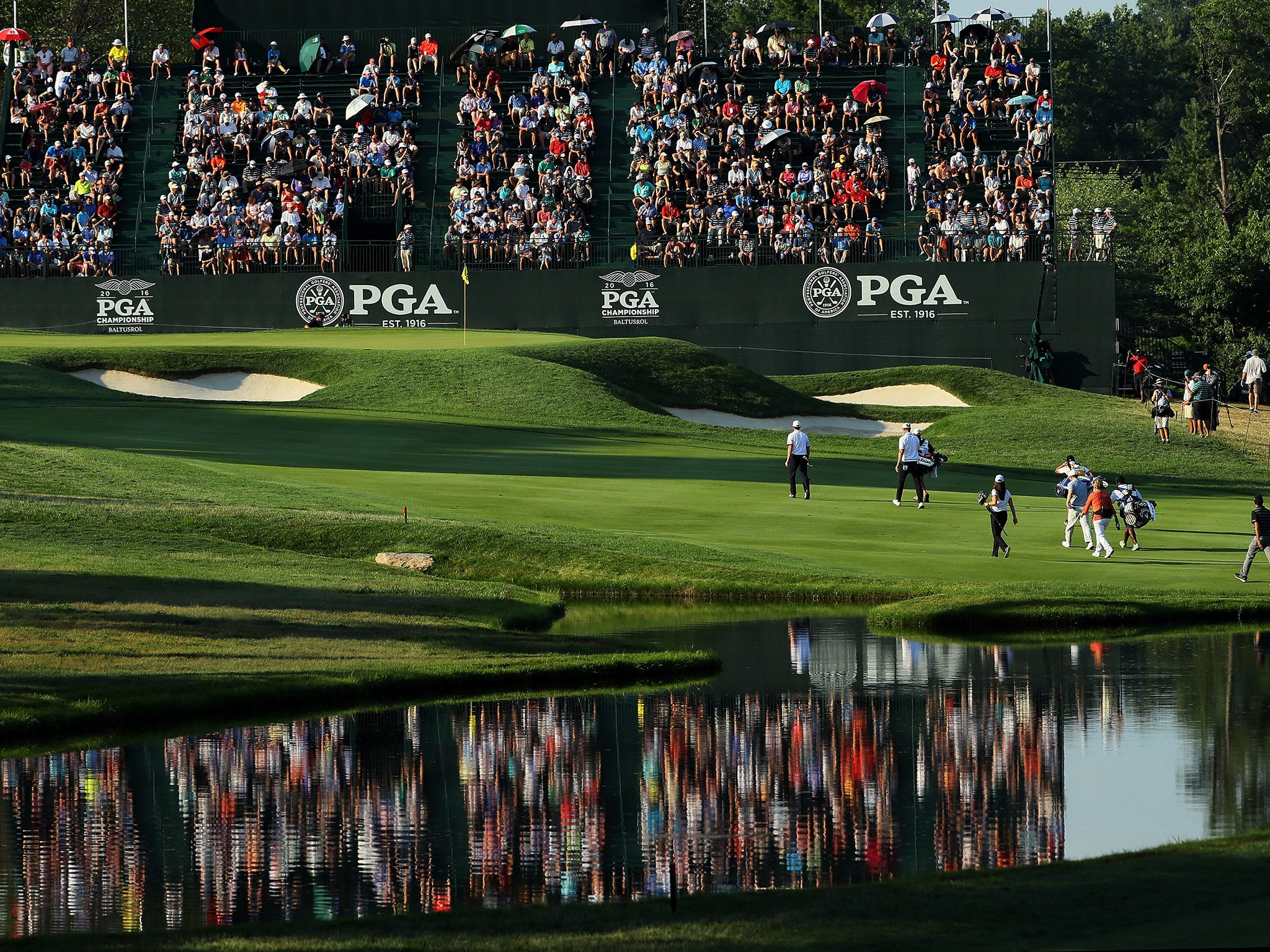 pga championship leaderboard live  latest scores on day