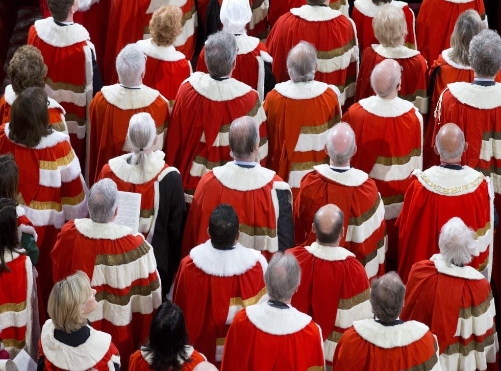 Peers in ceremonial dress
