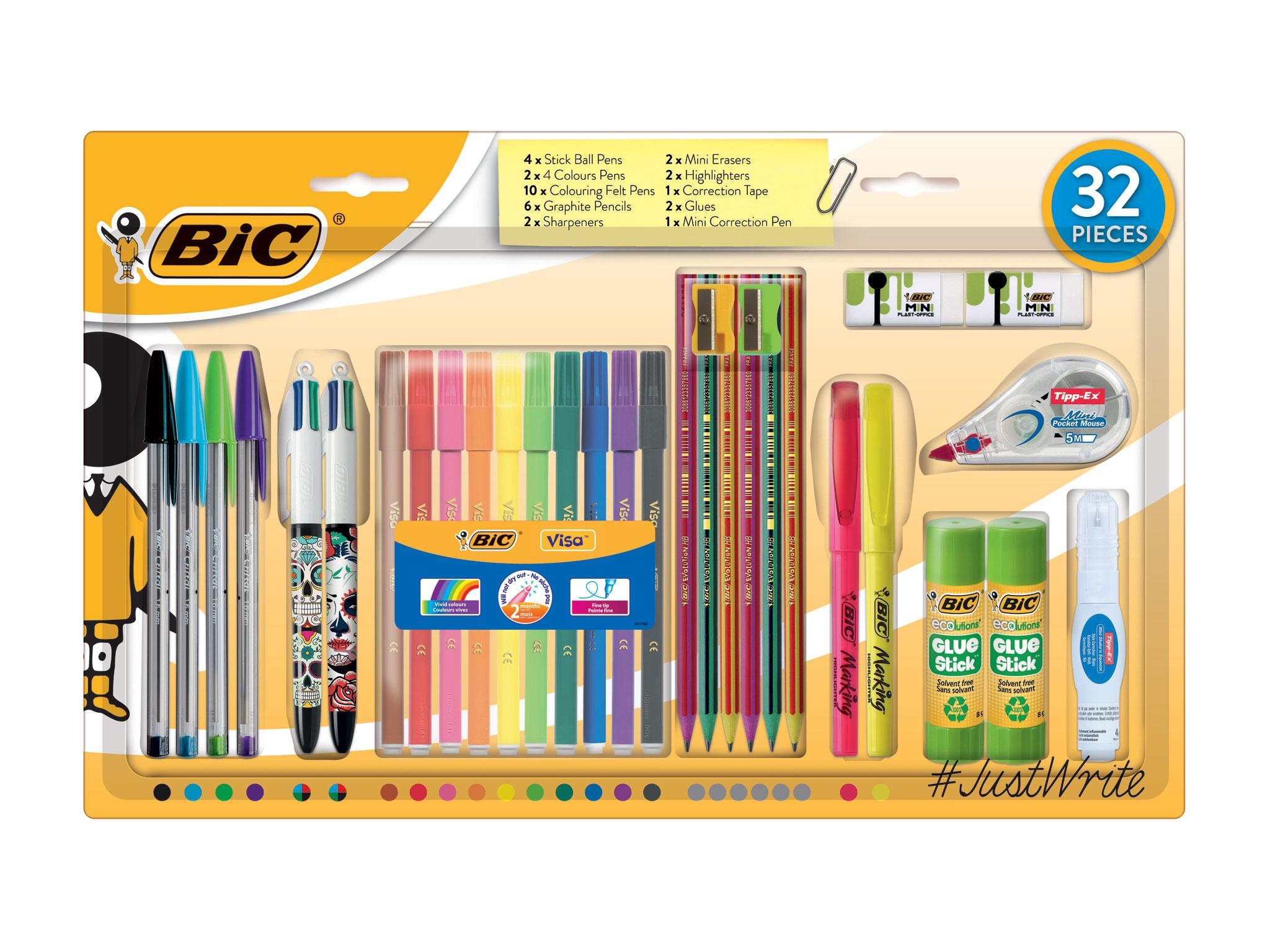 2 x Tesco Stationery Set Kids School Office Set