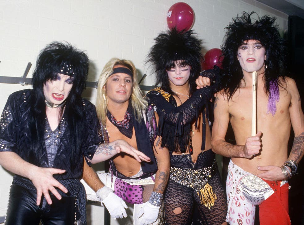Mötley Crüe pictured in 1986. Decades later, the band are bringing out a range of sex toys.