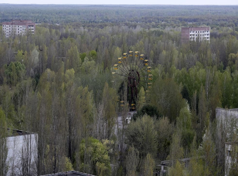 The abandoned city of Pripyat, near the site of the Chernobyl nuclear plant in Ukraine