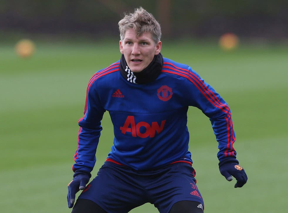 Bastian Schweinsteiger has been forced to train with the Manchester United reserves