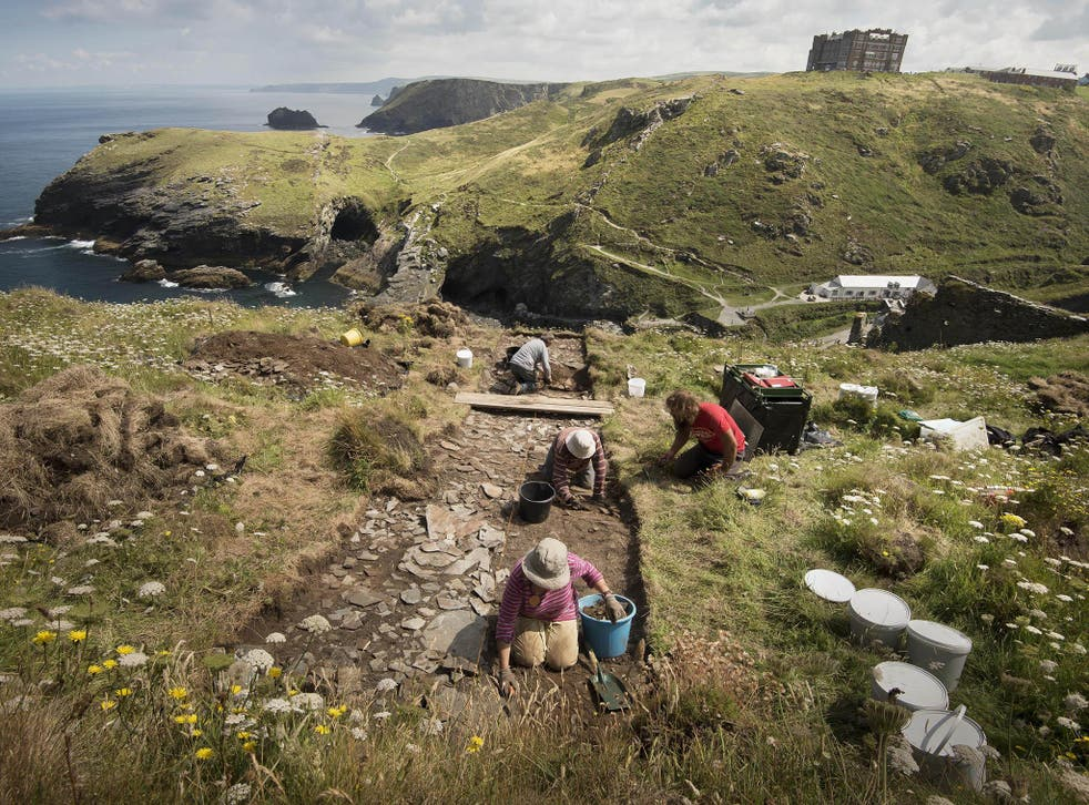 The excavation set out to find more about Tintagel's past which is believed to date back to the 5th and 6th centuries