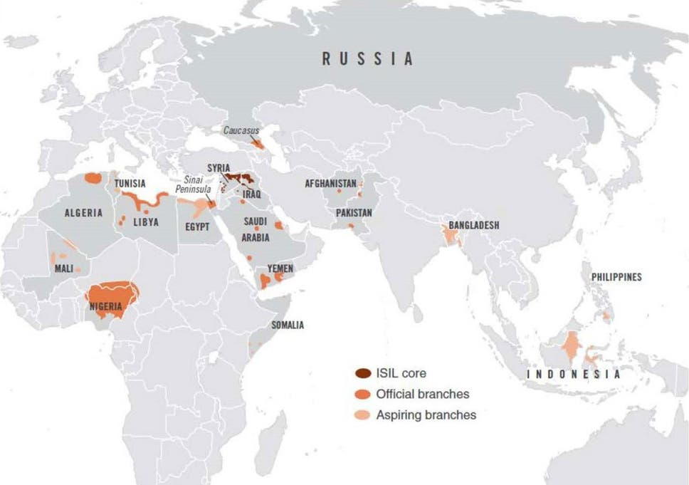 Terrorism \'heat map\' shows Isis network spreading across the world ...
