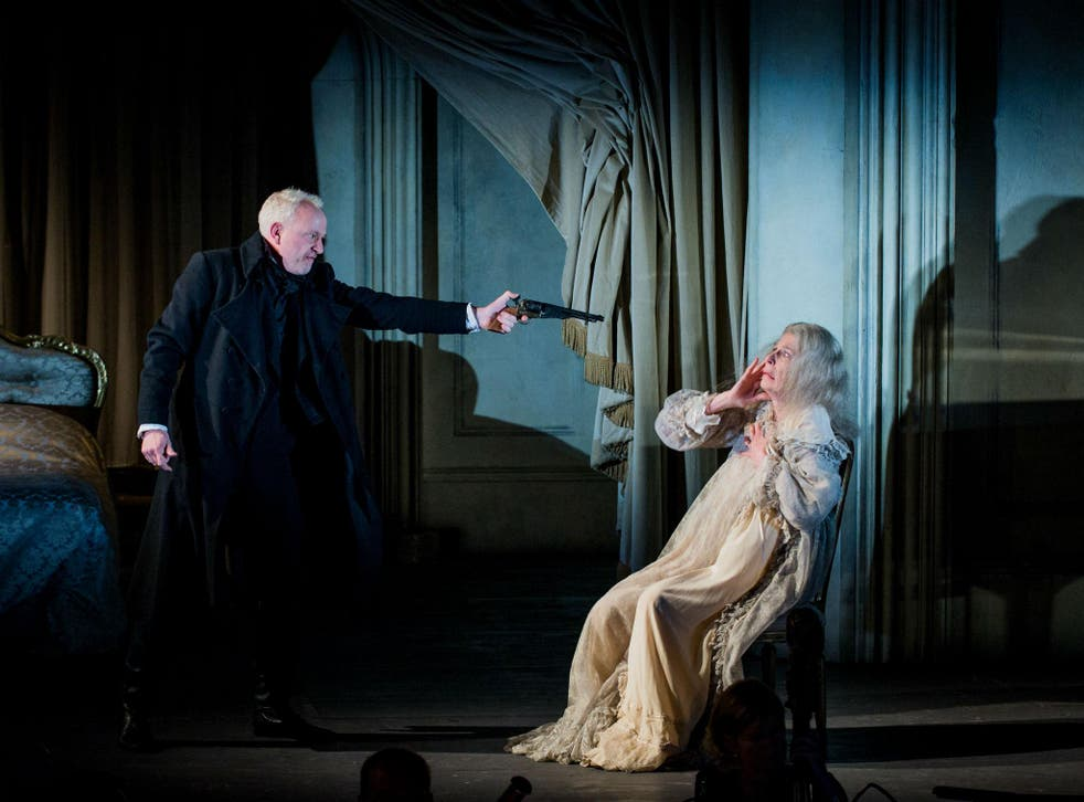 Peter Wedd as Herman and Rosalind Plowright OBE as the Countess in The Queen of Spades at Opera Holland Park